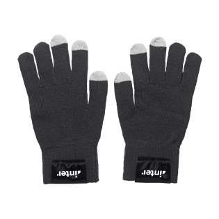 Strickhandschuhe für Touchscreens mit leitendem Material in jeder Fingerkuppe. Hiermit können Touchscreens von Smartphones und Tablets bedient werden, ohne die Handschuhe auszuziehen. Einheitsgröße.