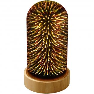 Decoratieve Cloche-lamp met een rustgevend 3D-effect. Heeft een gespiegeld oppervlak als de lamp uit is.