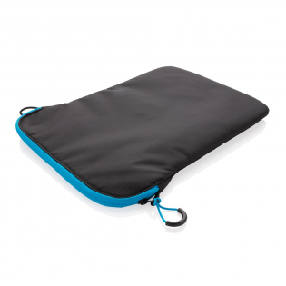 """Safely store your laptop in the lightweight yet strong 15.4"""" laptop sleeve with zip at the top. The zip contrast detail add a splash of colour and a touch of sporty style to the overall design. PVC free."""