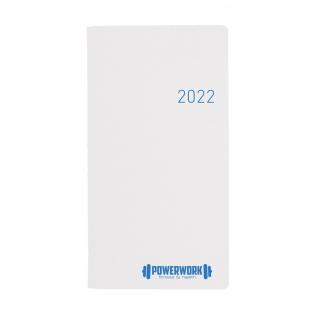 Viersprachiger Taschenkalender: D, EN, F und NL. Versehen mit einem Umschlag aus Kunststoff mit 2 Einsteckfächern, 2-Farbdruck, 64 Seiten 70g. weißes Schreibpapier, eine Woche pro Seite, Adressregister und Inhaltsverzeichnis. Artikel hat ein FSC-MIx-Papier Qualitätssiegel.