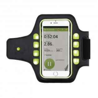 Veilig sporten in het donker met deze universele armband met LED verlichting. Gemakkelijk om uw arm te bevestigen met klitteband. Geschikt voor de meeste telefoons zoals; iPhone 5, iPhone 6, Samsung galaxy 5,6 en HTC one. Inclusief sleutelvakje.