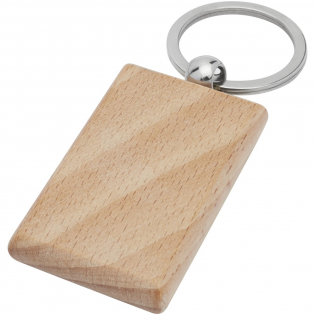 Rectangular keychain made of beech wood, supplied into a brown recycled Kraft paper envelope. The size of the keychain is 5.5 x 3.5 cm. Made for laser engraving.