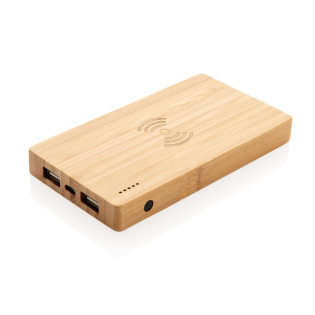 Eco 4.000mAh Powerbank im Taschenformat. Die A-Grade 4.000mAh Lithium-Polymer Batterie erlaubt es Ihnen bei voller Ladung Ihr Smartphone bis zu 2 mal aufzuladen - mit herkömmlichem USB-Port oder über das 5W Wireless Charging Pad. Die LED's zeigen Ihnen den Ladestand der Powerbank an, so dass Sie immer wissen wann es Zeit wird sie wieder zu laden. Input 5V/2A. USB Output 5V/2A. Wireless Output 5W 5V/1A.