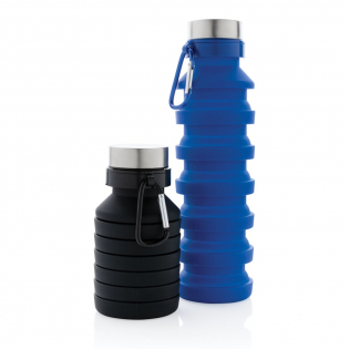 Save 50% space thanks to this smartly designed collapsible silicone bottle. With its capacity of 550ml you can keep yourself hydrated while out and about doing your outdoor activities. Made out of 100% food grade silicone material, it is flexible and easy to clean. A handy carabiner enables you to hook the bottle onto your bag for easy carrying. BPA free.