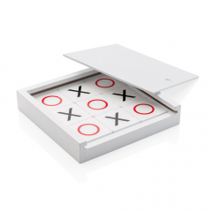 Bring this 9 piece tic tac toe game with you wherever you go for some classic entertainment! You can easily put the game away in the white wooden lid box. Comes in full colour box.