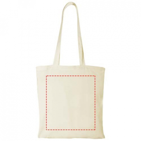 Tote with open main compartment. Drop down height of handles is 30 cm.