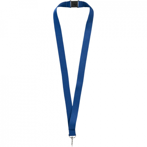 Lanyard for holding a name badge, ID card or keys. Breakaway closure eliminates chocking hazards. Second location setup charge waived if both sides decorated with same artwork. Run charges still apply.